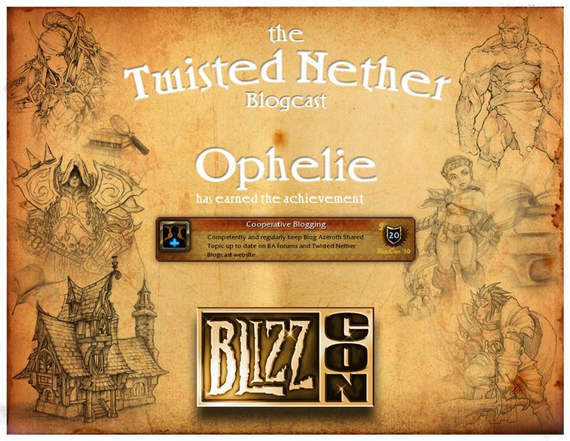 TNB Award Ophelie
