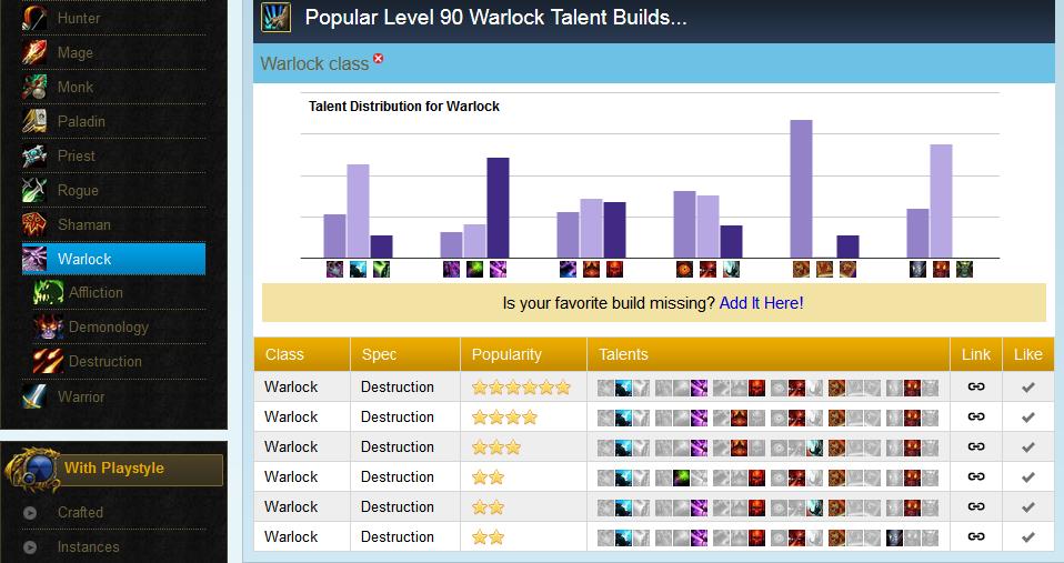 wowpopular warlock